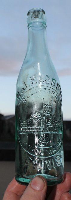 N13 C.J.Hasset Ennis Irish clear bottle | eBay