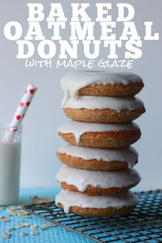 Stir & Scribble: Baked Oatmeal Donuts with Maple Glaze maybe use Bob's Red Mill 1:1 Gf flour mix instead of wheat