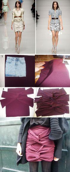 DIY  Burberry Prorsum Skirt  additional tips:http://provinzkindchen.blogspot.de/2009/10/anleitung-diy-burberry-prorsum-skirt.html