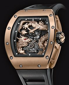 Richard Mille | Tourbillon Dragon-Jackie Chan | Red Gold | Watch database watchtime.com #RichardMille #luxurywatches