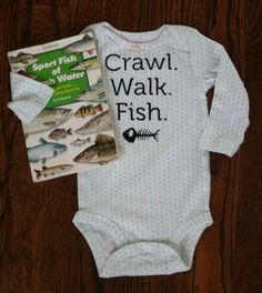 Crawl. Walk. Fish. Onesie Ready to Ship by ThatsWhatWeSaidShop