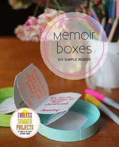 How would your kids sum up their summer in 6 words? Find out by making simple memoir boxes. What a sweet end-of-summer activity!
