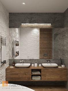 Ванная комната в современном стиле, дом в Сестрорецке