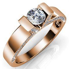 Venice ring med 18K rosa guldbelægning & 57 Swarovski krystaller