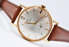 Vintage Watches Collection : Cyma Gold Plated Dial Swiss Watch - Watches Topia - Watches: Best Lists, Trends & the Latest Styles Love Fashion, Latest Fashion, Swiss Watch, Vintage Watches, Vintage Men, Gold Watch, Bracelet Watch, 1950s, Latest Styles