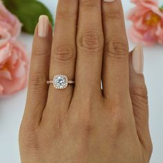 125 ctw Halo Engagement Ring homme fait diamant par TigerGemstones