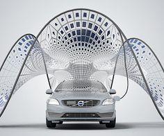 Opvouwbaar zonnecel-paviljoen voor elektrische auto's-> Elektrische vervoermiddelen
