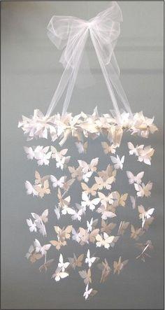 mobile en papillons