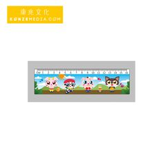 HD glasses-free 3D motion picture quality PET 100LPI cartoon students straight ruler