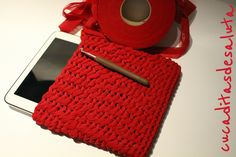 Funda Tablet a Crochet ( Fettuccia) paso a paso DiY!