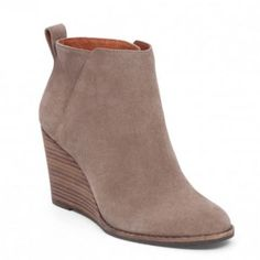 17a3991de381 Taupe Yezzah Wedge Bootie By Lucky Brand