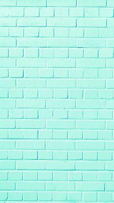Wall brick wallpaper 26 New ideas Pastel Color Wallpaper, Mint Wallpaper, Iphone Background Wallpaper, Blue Wallpapers, Tumblr Wallpaper, Pretty Wallpapers, Colorful Wallpaper, Aesthetic Iphone Wallpaper, Screen Wallpaper