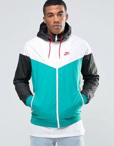 Image 1 of Nike Wind Breaker Jacket In Green 727324-351