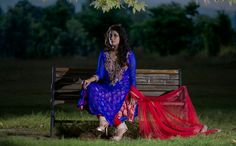 Its is a purely eastern dress, long shirt with a touch of jamawar under it and a shimmery net dupatta makes it an absolute choice of every girl for her wardrobe.