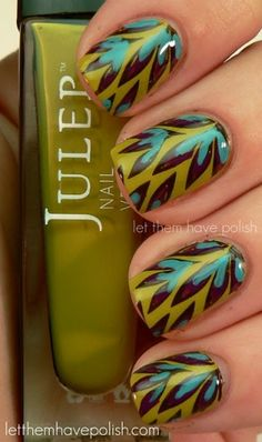 Peacock nails....Would love this in fall!