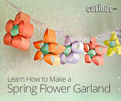 Get ready to celebrate the start of spring with a cute arts and crafts project! This lesson shows you how to make a flower garland from colored paper and string.
