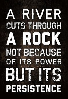 Love this Quote! A river cuts through rock not because of its power but its persistence #motivational #quotes #words #sayings #Life #Inspiration