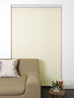 Cadence Double Cream Vertical Blind from Blinds 2go