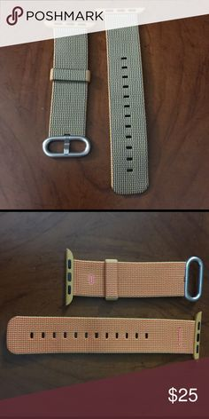 Apple Watch replacement band 38mm watch band. Woven nylon. Pics of both sides. S/M Accessories Watches