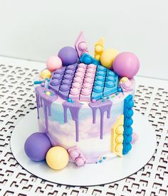 10th Birthday, Birthday Cake, Russian Cakes, Figet Toys, Party Pops, 3d Cakes, Sweet Lady, Diy Cake, Cake Decorating