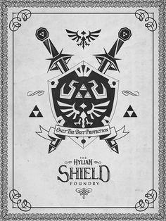 Legend of Zelda Hylian Shield by Barrett Biggers