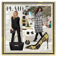 """Plaid Perfection"" by aurorasblueheaven on Polyvore featuring Venus, Manolo Blahnik, Talbots, Plevé, Kate Spade, Fiorelli, Alexis Bittar, Tory Burch, plaid and venusfashions"