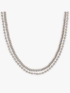 collier chaîne elvio argenté | agnès b. Jewels, Diamond, Necklaces, Accessories, Jewerly, Diamonds, Gemstones, Fine Jewelry, Gem