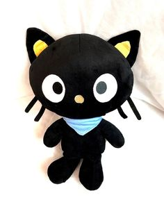 "SANRIO CHOCOCAT 15.5"" LARGE PLUSH TOY WITH BLUE SCARF Cute!"