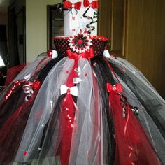 Full length tutu dress Dora Ladybug Minnie Mouse by MonisBowsNMore, $60.00