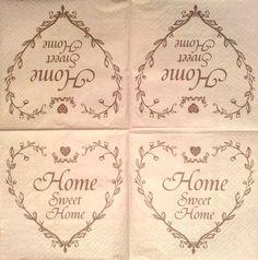 "Serviette en papier "" Home sweet Home """