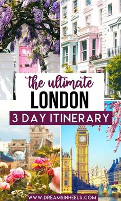 The Ultimate London 3 Day Itinerary! Wondering what to do in London in 3 days? This fascinating, fun, and iconic European city changes with every visit and there's always so much more to explore. Check out this ultimate guide to the perfect 3 days in London! | London Itinerary | England Travel | United Kingdom | London Photography | London things to do in | London aesthetic | London Travel | London Travel Photos | London travel guide | London travel photography | London what to do | UK… London England Travel, London Travel, Edinburgh Travel, Scotland Travel, London Photography, Travel Photography, Usa Travel, Travel Tips For Europe, London Attractions