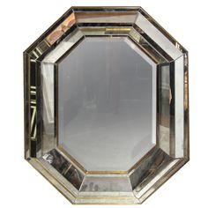 Italian Octagonal Giltwood  Mirror