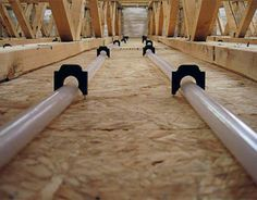 Radiant heat keeps floors the perfect temperature so you don't need to turn on the heat as much.