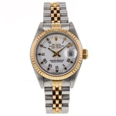 Ladies Rolex DateJust Chronometer Two Tone 26mm 18k Gold & Steel Automatic Watch