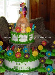 luau party cakes...