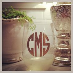 Personalized acrylic stemless wine glass by Dawlens on Etsy, $8.00. Love this - great gift idea!