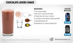 50 Best Protein Shake And Smoothie Recipes replace sour cream with greek yogurt, and where in the hell do i get flaxseed oil? I'll just add ground flaxseeds Protein Snacks, Pancakes Protein, Protein Shake Recipes, Smoothie Recipes, Whey Recipes, Juice Smoothie, Fruit Smoothies, Healthy Smoothies, Healthy Drinks
