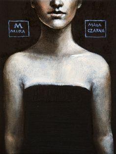 Mira Skoczek-Wojnicka Maąa czarna olej 2014 24x18 cm