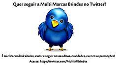 A Multi Marcas Brindes Promocionais também está presente nas Redes Sociais! Acompanhe nossas novidades! Contato: (19) 3411-5338 - Fale com Isa Ricardo!  https://twitter.com/MultiMBrindes