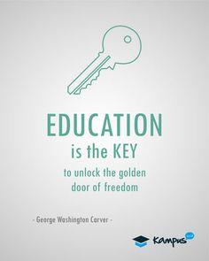 #Education is key to #freedom #KampusID #Quote  www.kampus.co.id