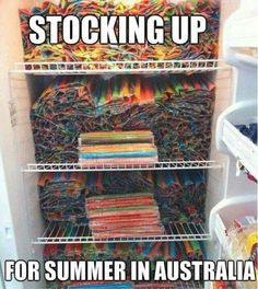 Ice blocks - funny but true. <<< I'm sorry, but those are Zooper doopers or at least icy poles Australian Memes, Aussie Memes, Australian Food, Meanwhile In Australia, Australia Funny, South Australia, Funny Jokes, Hilarious, Thing 1