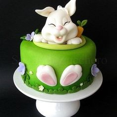 love the bunny's expression! cake decorator totally deserves major props for this one