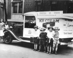 vintage pictures of people eating ice cream - Google Search