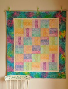 Baby Quilt Modern Patchwork Oversized in Pastel by Coudsdonc, $95.00