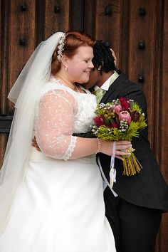 This bride is an UK size 24 (US 20) and proves that larger brides can be just as beautiful as their slim counterparts. Offbeat Bride.