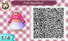 "animalcrossingnewleaf-acnl: ""A summer dress in pink. It is a white skirt and a pink shirt with long shelves and stripes. In the game it looks sweet and good for the summer. But it is not too free :) """
