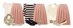 """""""Teacher Outfits on a Teacher's Budget 93: Pleated Skirt"""" by allij28 ❤ liked on Polyvore featuring Oasis, Chelsea Girl, Izabel London, Miss KG, Accessorize, Zara, women's clothing, women, female and woman"""