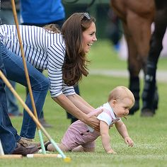 Prince William celebrates his first Father's Day in very good company: Wife Kate and their son, Prince George, cheered him at charity polo match: http://www.people.com/people/package/gallery/0,,20395222_20826235_30172820,00.html