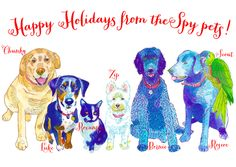 Happy Holidays from the Spy pets!