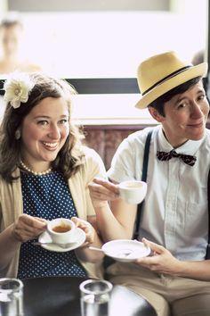 Emily + Denise's retro engagement